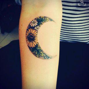 #moon #woman #flower #love