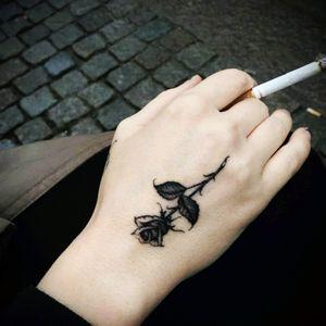#tattoo #love #rose #beautiful #cigarettes #black #ink #roses #Amazing #art