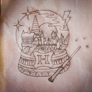 #bouledeneige #hogwarts #harrypotter #pencildrawing #tattoo