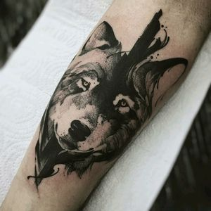 By #PhellipeRodrigues #wolf #blackwork #wolftattoo