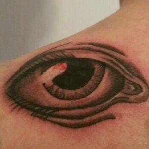 Eye tattoo #eye #tattoo #blackandgrey #eyetattoo  #cheyennehawk #silverbackink #inkeezegreenglide #Criticalpowersupply #killerinktattoosupplies