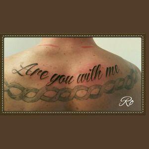 Script tattoo (other tattoo not mine) #script #tattoo #stigmarotary #inkeezegreenglide #silverbackink #Criticalpowersupply #spiritstencil #stencilstuff #killerinktattoosupplies