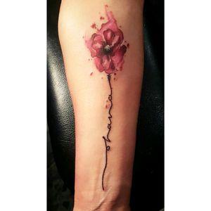- Flowers watercolor. #flowers #watercolor #colour #color #ohana #lettering #letteringartist #flowerstattoos #flowerstattoo