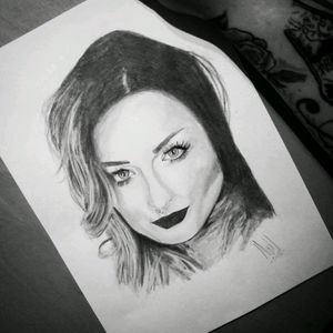 Drawing i made of Ryan Ashley📝 #draw #drawing #sketch #sketching #portrait #blackandgrey #face #woman #inkmaster #original #pencilart #tattoo