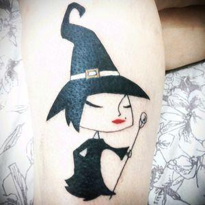Cartoon finalizado e cliente feliz com o resultado #witch #cartoon #bruxa #witchcraft