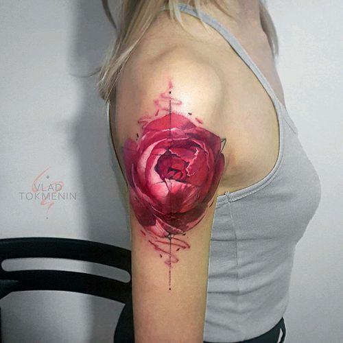 By #VladTokmenin #rose #abstract #flower