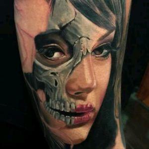 #VicVivid #Skull #Girl #GirlHead #Realism #Color #Portrait