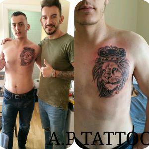 #lion_tattoo #blacandgrey