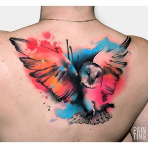By #SyzmonGdowicz #painting #owl #color #bird