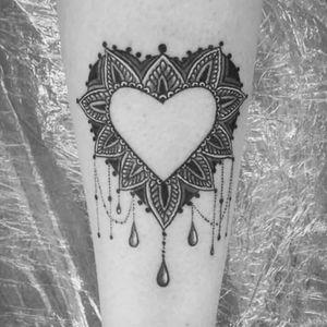 #mandala #heart #dynamicblack #stigmabizarre done by Marko Martinović