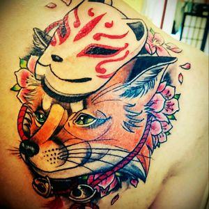 #kitsune #kitsunefox #Japaneese #mask #fox #greeneyes