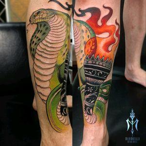 In progress #snaketattoos #neotraditionaltattoo #tattooworkers #tatts #tattoolife #tattooideas