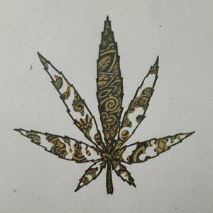 #Draw #tattooartist #VitoDraw #flash #weedtattoo #weed #mandala #smoke