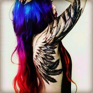 #wings #blackwork #shoulder #upperbacktattoo