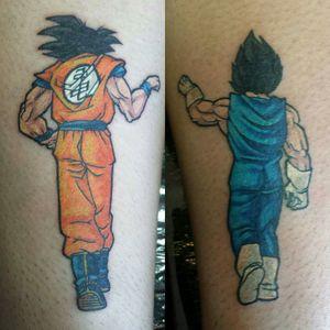 Goku + Vegeta Fistbump #DragonballZ #Goku #Vegeta #Fistbump #Colour #Cartoon #Anime