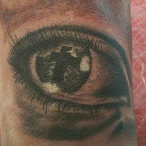 Eye tattoo #tattoo #eyetattoo #blackandgrey #stigmarotary #cheyennehawk #silverbackink #inkeezegreenglide #stencilstuff   #Criticalpowersupply #killerinktattoosupplies