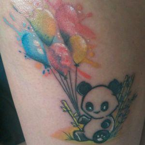 #panda #watercolor #kawaii #kawaiitattoo #cutetattoo #inkedgirl #TattooGirl