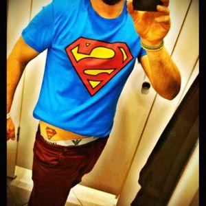 #superman #logo #superhero #PelvisTattoo