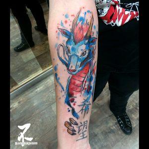 #dragon #haku #ghibli #ghiblistudio #chihiro #sketch #sketchtattoo #graphictattoo #tatouagegraphique #instatatts #girlswithtattoos #animetattoo #geek #otakus #watercolor #watercolortattoo #tattoo #tatouage #tatts #tattooart #tattooartist #colortattoo #zeldabjj #zeldablackjeanjacques #tattoomag