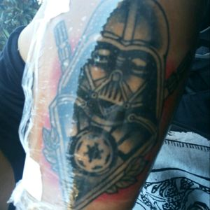 Fresh new tattoo! #StarWars #darthvadertattoo