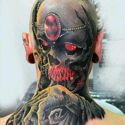 #PiotrOlejnik #Scalp #Surrealism #Colorrealism #Skull #Death #Jewel #Crazy