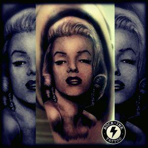 #blackandwhitetattoo #marilynmonroe #unhealed