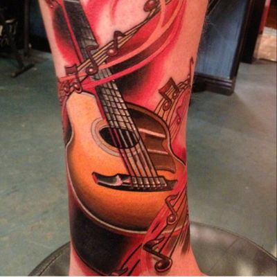 #Guitar by #TommyHelm #music #coverup #TattooNightmares