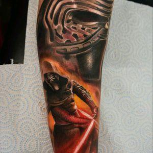 Start of Star Wars sleeve #yarotattoo #tattoo #realistictattoo #starwars #KyloRen