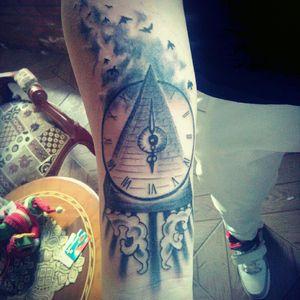 #tattoo #blackandgreytattoos #piramide