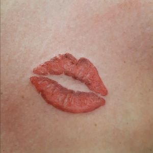 # oldxink #@paul #tattooart #kiss #redlips