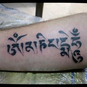 #tattoo #blackline #MantraTattoo #ommanipadmehum