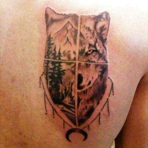 #Wolf #WolfTattoo #Tattoed