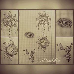 #mandala #sunmoontattoo #eyetattoo #cherrytree #solyluna #ojo #dibujando