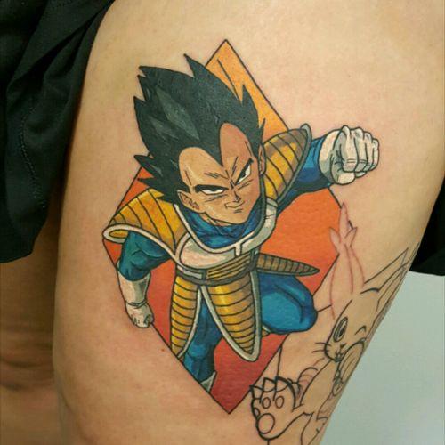 #tattoo #tattoos #dragonballz #dragonballztattoo #newschooltattoo #vegetatattoo #vegeta #videogame #videogametattoos #geektattoo #colourtattoo #anime #animetattoo #japanesetattoo #japaneseanime #