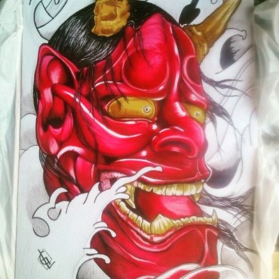 Dibujo #Demonio #ONI