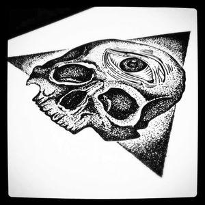 #dotwork #skull #tattoosketch #illuminati #blackworktattoo #blackworker #eye