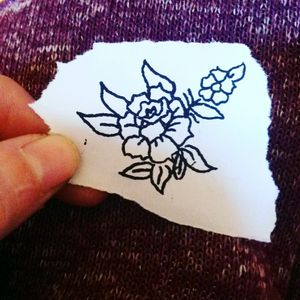 🌸Sketch tattoo flower🌸 #tete #personal #tattooapprentice #flowers #ink tattoos
