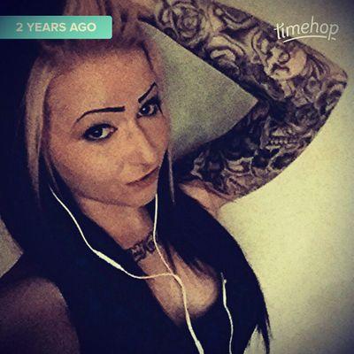 2014 ♡ when my sleeve was completely #sleeve #girlswithtattoos #inked #inkedgirls #yegtattoos #skulltattoo #sugarskull #roses