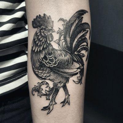 #rooster #blackwork #filigree #kamargiotattoo