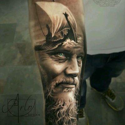 #arlotattoos #Vikings #ragnar #ship #tattoo
