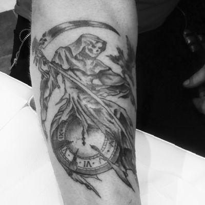 #grimreaper #death #blackandgrey
