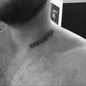 In Budapest #neck #binary #binaryCode #music
