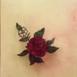 🌷Rose Tattoo🌷 #tete #personal #apprenticetattoo #tattoo #rosetattoo #rose #sketch #apprentice