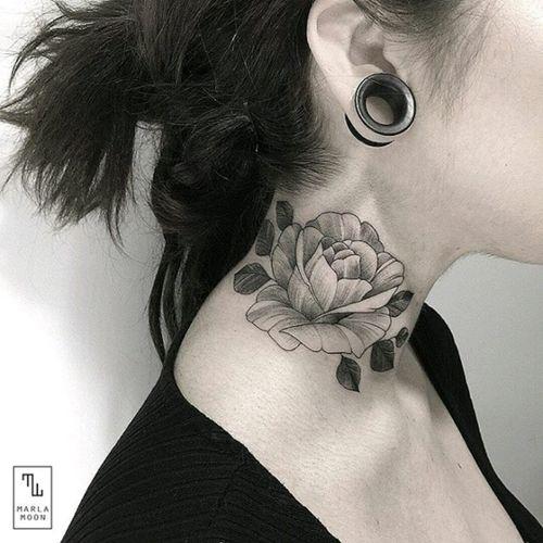 By #marlamoon #rose #blackwork  #linework #floral