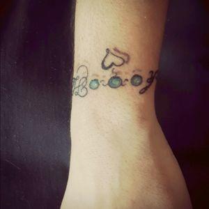 #bracelet #bracelettattoo #heart #mychildren #name