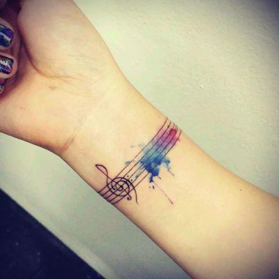 #musictattoo #music #musicislife #colourtattoo #song #musicnotes #musicnotestattoo #blueink #violet #ink #musicismylife #lovemusictoo #Musictattoos #ilovemytattoos #ILoveMusic #Tattoodo 🎵🎶🎼🎼💙💚💛💜