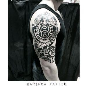 Maori Sleeve instagram: @karincatattoo #maori #tattoo #sleeve #tattoos #inked #ink #mantattoo #shoulderarm #tattooed