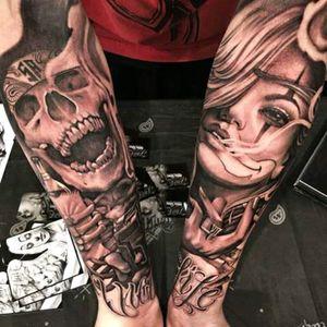 #AntonioMacko #Chicano #ChicanoStyle #Skull #Payasa #Thug #BlackandGrey