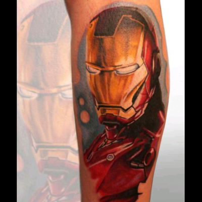 #ironman #ironmantattoo #MarvelTattoo #colourtattoo #realism