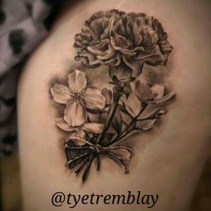 #carnation #flowers #floraltattoo #blackandgrey #realism